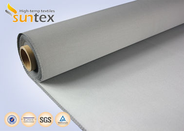550C High Temperature Resistant PU Coated Fiberglass Cloth Roll 0.7mm Fire Protection