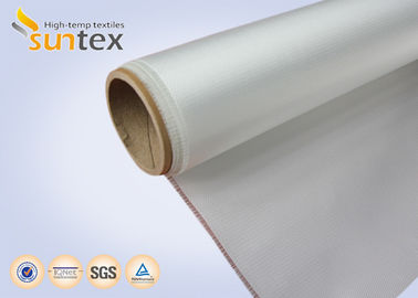 13oz High Heat Resistant Fabric Acrylic Coated For Fireproof Roll Curtain , Lightweight Fiberglass Cloth