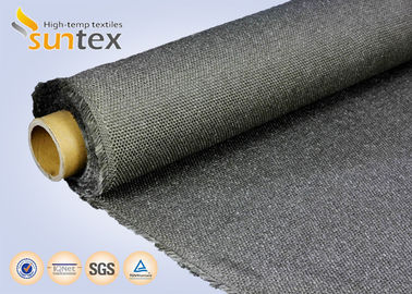 Stainless Steel Wire Inserted Fiberglass Woven Fabric With Calcium Silicate Coating